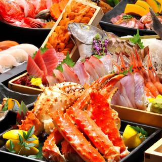 海鮮がメインの飲み放題付き宴会コース