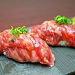 黒毛和牛赤身の寿司 2貫
