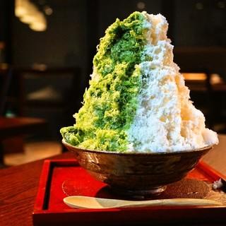 京都を堪能!濃厚宇治抹茶ミルクかき氷