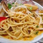 麺作 赤シャモジ - あわシャモジ・特製濃熟辛味噌らーめん(大盛り)