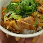 つけ麺専門店 二代目YUTAKA - 汁滲み白飯に刻み豚、ネギの単純レシピ