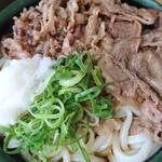 セルフうどん ふじい - 牛肉ぶっかけ冷 中 (630円)