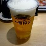 寿司処 雷電 - 生ビール:500円