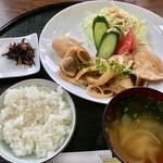 道の駅童話の里くす - 生姜焼き定食(ご飯小盛り) 700円