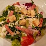 カラオケ パセラ  - 厚切りベーコンのシーザーサラダ