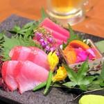 越後屋 久保田 - 鮮魚の三点盛り