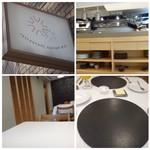 食堂セゾンドール - オープンキッチンの店内は明るくお洒落な雰囲気・・