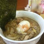 龍門瀑 - 料理写真:ニボそば肉玉ブラック