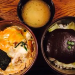 味司 野村 - デミカツ丼&玉子カツ丼(子盛)