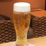 Blue Sea - ランチビール、ランチワインは¥300