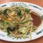 67576570 - 野菜炒め 醤油溜り~