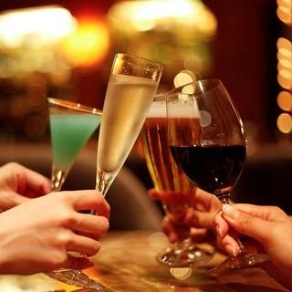 お酒好きのゲストも満足!豊富なラインナップをお楽しみ下さい