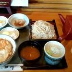 そばと膳 田川 - Aたぬき丼と蕎麦セット980円
