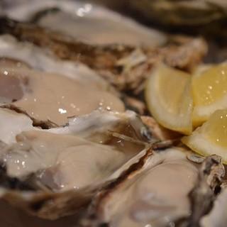 フレッシュな生牡蠣