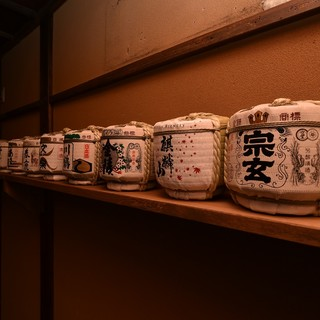 唎酒師の店主が厳選。こだわりの日本酒約50種。