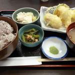 かみいし - 鱧と野菜の天ぷら定食