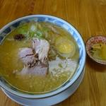 直太郎    - ミソ700円(太麺・こってり)
