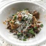 67601134 - マルタリアーティ 仔羊の白ワイン煮込みのソースにペコリーノチーズの香りと
