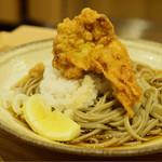 中村麺兵衛 - 十割鶏から天ぶっかけ蕎麦@税込630円