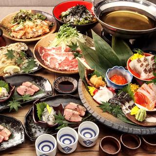 20種類の日本酒が飲み放題!日本酒好きには堪らない宴会コース