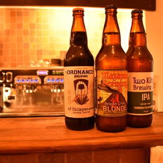 クラフトビールも取り揃えております。