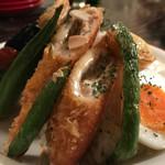 カレー屋アカマル - 夏野菜カレー1180円トッピングささみチーズカツ300円