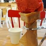 ミラ - 料理写真:採れたて苺ソルベ 300円