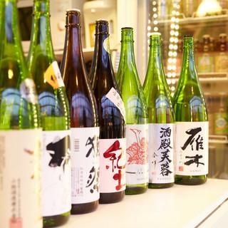 厳選された約50種類の日本酒