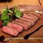 手打ち蕎麦 鴨料理 文楽 - 山形牛A-5ステーキ