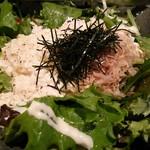 ちゃんと家ダイニング 成田西口店 - 野菜たっぷりの豆腐サラダ(ハーフサイズ)通常サイズは500円