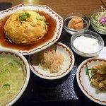 拉拉飯店 - レディ-スセット・・天津飯、スープ、鶏のから揚げ、春雨、デザート
