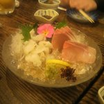 6761857 - カンパチと蛸の刺身!プリプリの食感と甘み♪