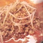 龍巳飯店 - トッピングの挽肉