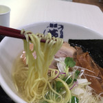 麺屋 燕 - もっちりしたストレート麺
