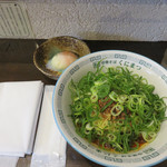 中華そば くにまつ - 『KUNIMAX(クニマックス)』という激辛新味650円+温泉玉子。
