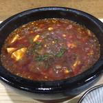 陸っぱり - 料理写真:人気NO.1、石鍋四川風マーボー豆腐¥800(税別)
