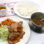 67612867 - カレー付き生姜焼き ¥1,000