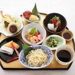 ぎおん三条 - 1800円のつけ麺御膳 造り 天ぷら 焚き合せ等 お得感あり