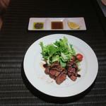 肉ビストロTEPPEN - ダチョウのタッリアータ