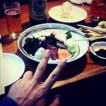 魚や - 刺身を肴に乾杯!!