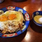 白楽天 - 焼豚玉子飯とスープ