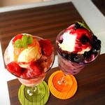 ソレイユカフェ - 上のアイスも美味しい!