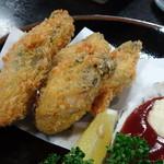 焼がきの はやし - 特選かきフライ定食の牡蠣(でっかいのが5個)
