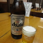 しらいしうなぎ屋 - ビール(大瓶) 700円 (2017.5)