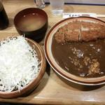 67625219 - ロースカツカレー、千切りキャベツと味噌汁付  ¥1000