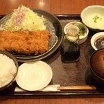和幸 IMA光が丘店 - 特大ひれかつご飯  大根おろしと味噌だれ付き 1674円