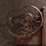 アンモナイト - アンモナイトのオブジェかと思いきや、よく見たら可動式でドアになっていました。