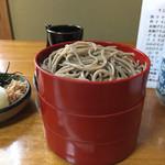 そば岡本 - 割子蕎麦4枚  後で1枚来ました