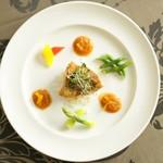 ヴィーナスコート 佐久平 - 料理写真:信州産地鶏とそばの実リゾット
