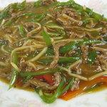 仙台屋食堂 - 牛肉とピーマンの焼きそば(850円)